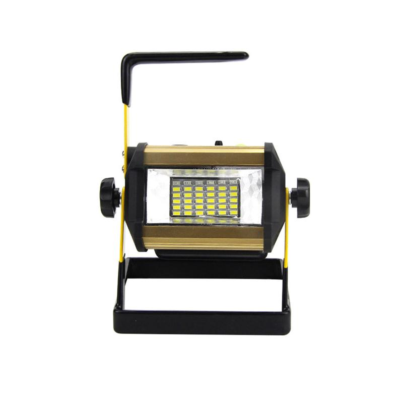 ФОТО 50W 2400LM 36LED Handheld Rechargable Floodlight Waterproof Outdoor Landscape Lamp with White Light