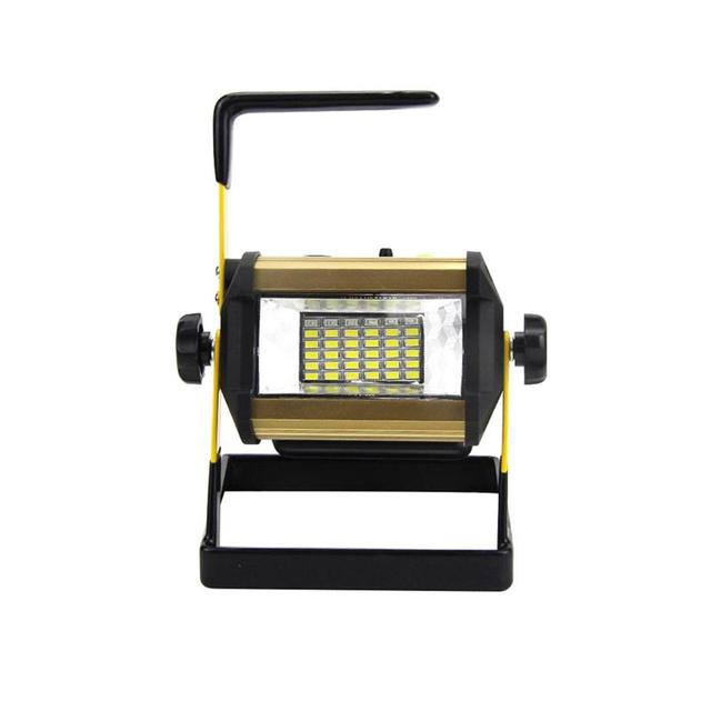 50W 2400LM 36LED Handheld Rechargable Floodlight Waterproof Outdoor Landscape Lamp with White Light