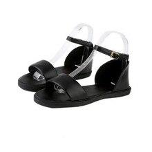 2017 vente Chaude Nouvelle Arrivée Vente Chaude De Mode D'été Doux Femmes Appartements Talon Sandales Boucle Sangle Femmes Chaussures. HYKL-1603