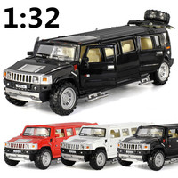 Stretch Hummer,Super Cars,1:32 Alloy Pull back Humvee,Metal cars,Diecasts models,free shipping