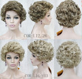 Sweet Fashion Women Capless Short Curly Synthetic Hair  Wig Sweet Fashion Women Capless Short Synthetic Wig free shipping