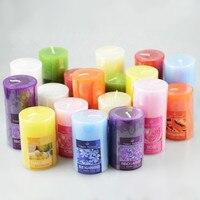 1 개 7.3x7.5 센치메터/7.5x10 센치메터 큰 아로마 무연 촛불 아로마 테라피 에센셜 오일 웨딩 촛불 로맨틱 촛불 향기