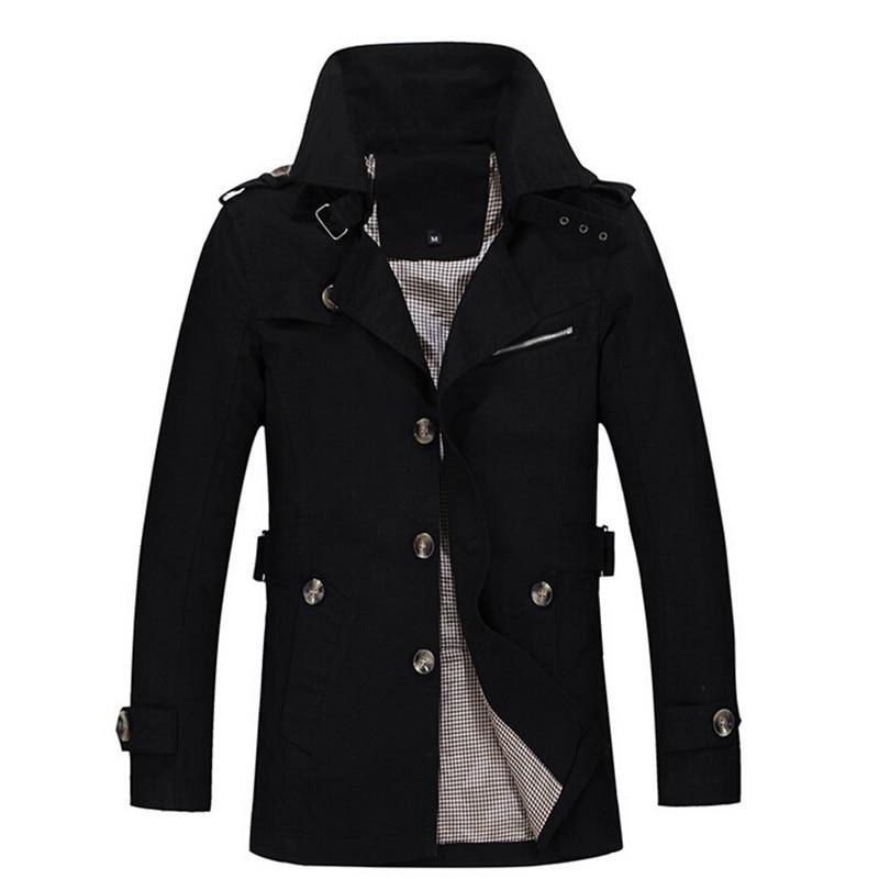 Hommes Slim Manteau 2016 Nouvelle Vente Chaude Brun Longue Veste - Vêtements pour hommes - Photo 5