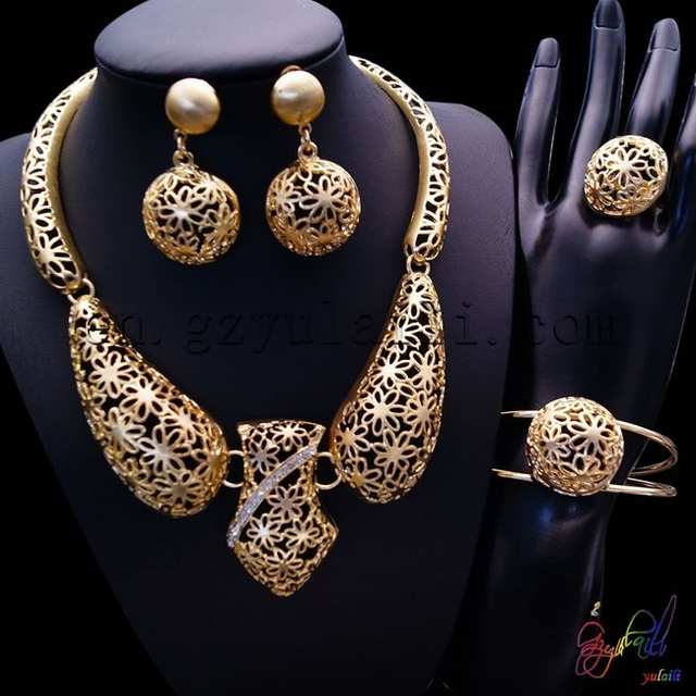 f997c06f4 2 gram gold plated jewellery sets/ full set jewellery/ micro setting  wedding jewellery set-in Jewelry Sets from Jewelry & Accessories on  Aliexpress.com ...