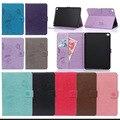 Tapa de lujo del cuero de la pu case cubierta para apple ipad air 2/ipad 6 (2014) para ipad air2 stand cases tablet con ranura para tarjeta