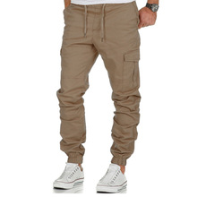 PADEGAO Brand high quality 2019 new mens cargo pants multi-pocket casual sports corset