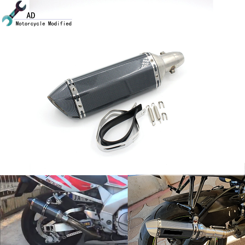 4 Color 51MM Universal Modified Escape Moto Akrapovic Exhaust Motorcycle Scooter Dirt Bike Muffler Pipe YZF600 R6 YZF1000 R1 CBR speed scorpion akrapovic exhaust escape moto silencer 100cc 125cc 150cc gy6 scooter motorcycle cbr jog rsz dirt pit bike