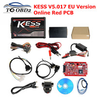 EU Red KESS V2 V2.47 V5.017 ECU Programming Tool Online Master Version OBD2 Manager Tuning Kit KESS 5.017 BDM Probe Adapters