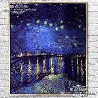 Известный Книги по искусству hnadpainted мастеров Звездная ночь Винсент Ван Гог Картина маслом стены Книги по искусству изображение Гостиная хо