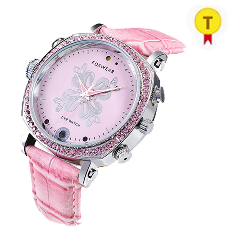 2017 Fashion Design Special Lady Video Smart Watch Collect Proof When Drive Car or Outdoor Sport Good Protect for Lady Watch