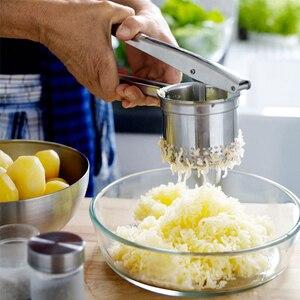 Image 5 - Kartoffel Stampfer Ricer Zerdrückte Kartoffeln Edelstahl Zerkleinerung Kartoffeln Püree Obst Gemüse Entsafter Presse Maker Werkzeug