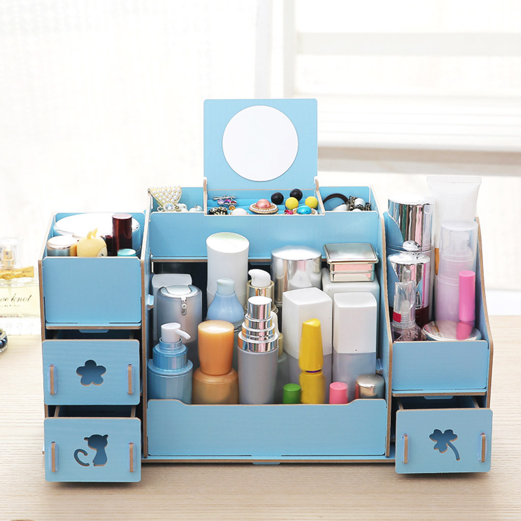 Assembled Drawer Type Storage Box For Cosmetic