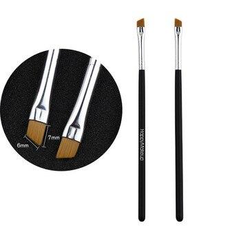 2Pcs Makeup Brush Cosmetic Brushes Kabuki Face Nose Brushes Concealer Foundation Eyebrow Eyeliner Blush Powder Makeup Tool 3.4