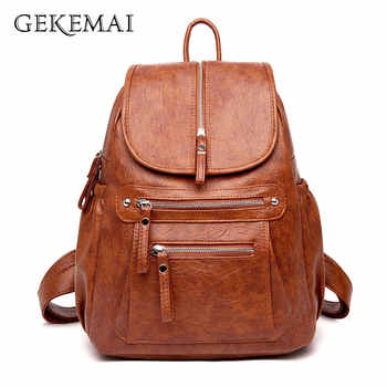 5 Colors Ladies Sheepskin Leather Backpack Fashion Women Travel Backpacks Luxury Sac A Dos School Backpacks for Girls Mochilas - DISCOUNT ITEM  43% OFF All Category