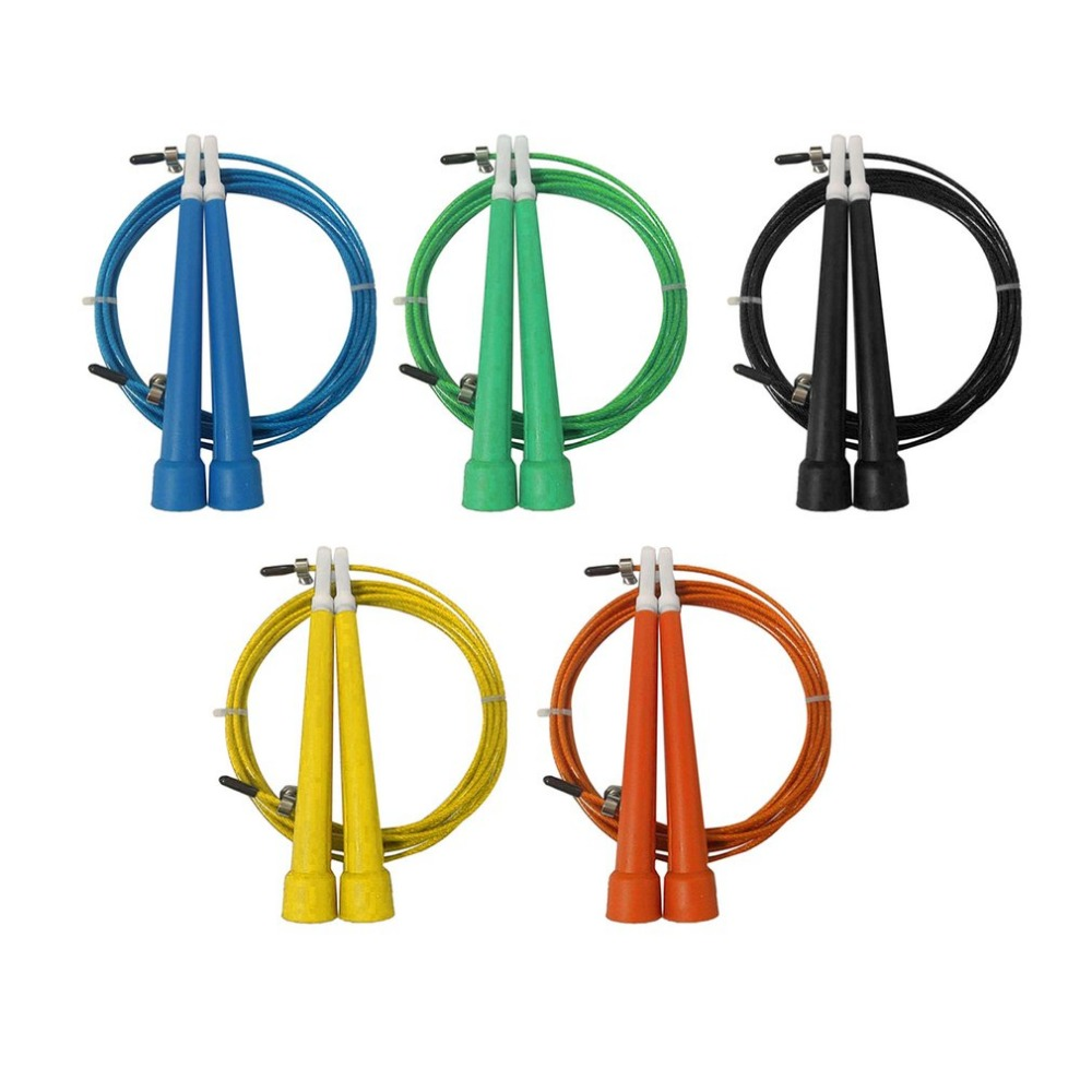 Steel Wire Jump Rope Ultra-speed Ball Bearing Skipping Rope Steel Wire Jumping Ropes for Training Bodybuilding(China)