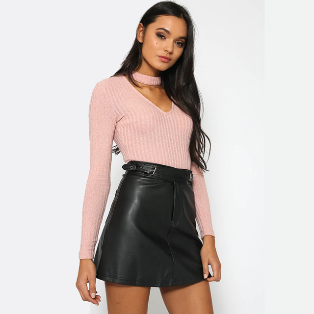 Spring Sexy V-Neck Long Sleeve Women Bodysuit Fashion All-match Bodycon Short Jumpsuit Black/Gray/White/Pink Slim Rompers
