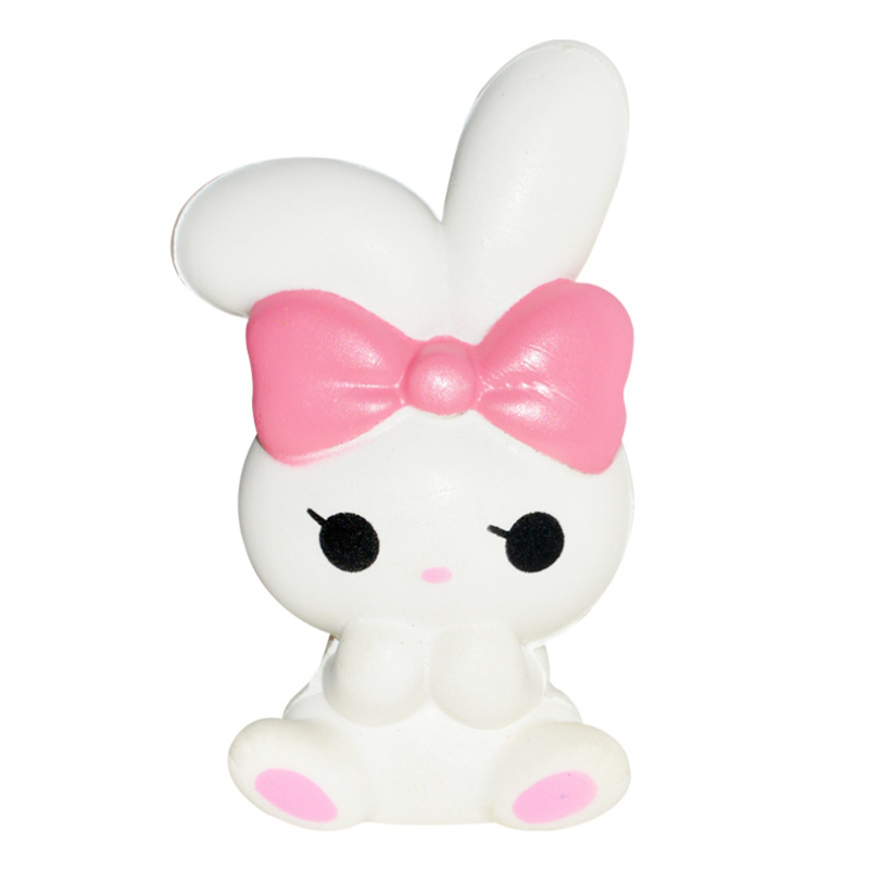 New Kawaii Angel Rabbit Squishy Cartoon Doll Slow Rising PU Bread Cake Squeeze Toy Sweet Scented Stress Relief Fun For Kid Gift