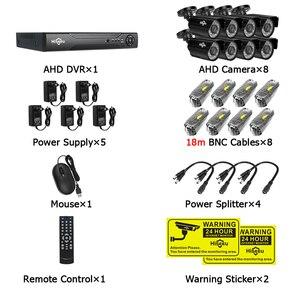 Image 5 - Hiseeu kit de système de vidéosurveillance 8CH AHD 1080P IR