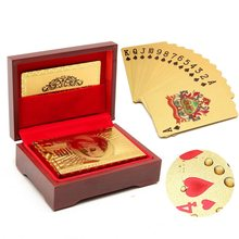 New Arrival Plastic Waterproof 1 Set Gold Poker Cards With Red Box Perfect for Birthday Anniversary Celebrations