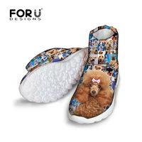 FORUDESIGNS 2016 Fashion Ankle Women Boots Cute Pet Dog Printed High Top Shoes For Female Lady