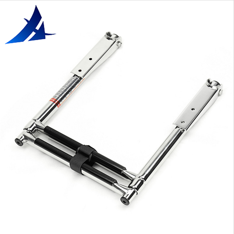 Boat Accessories Marine 2 Step Boarding Telescope Ladder For Marine Boat Swimming Pool