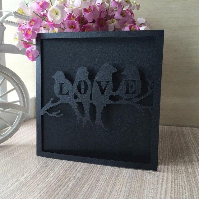 Pscdużo ślub Pokrywa Blachy Małżeństwo Ptak Karty Zaproszenia