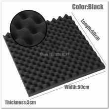 Fast EMS shipping 24pcs size 50*50*3cm Acoustic Egg foam Soundproof foam/acoustic acoustic panel studio foam High Quality