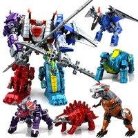Best Gift Boy Dinosaur Toys Deform Robot Child Puzzles Star Rescue Team Set