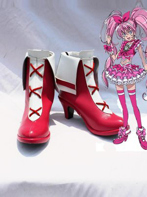 Pretty Cure Cure Melody Rose Cosplay Boots Shoes Anime Party Cosplay Boots Custom Made for Adult Women High Heel Shoes