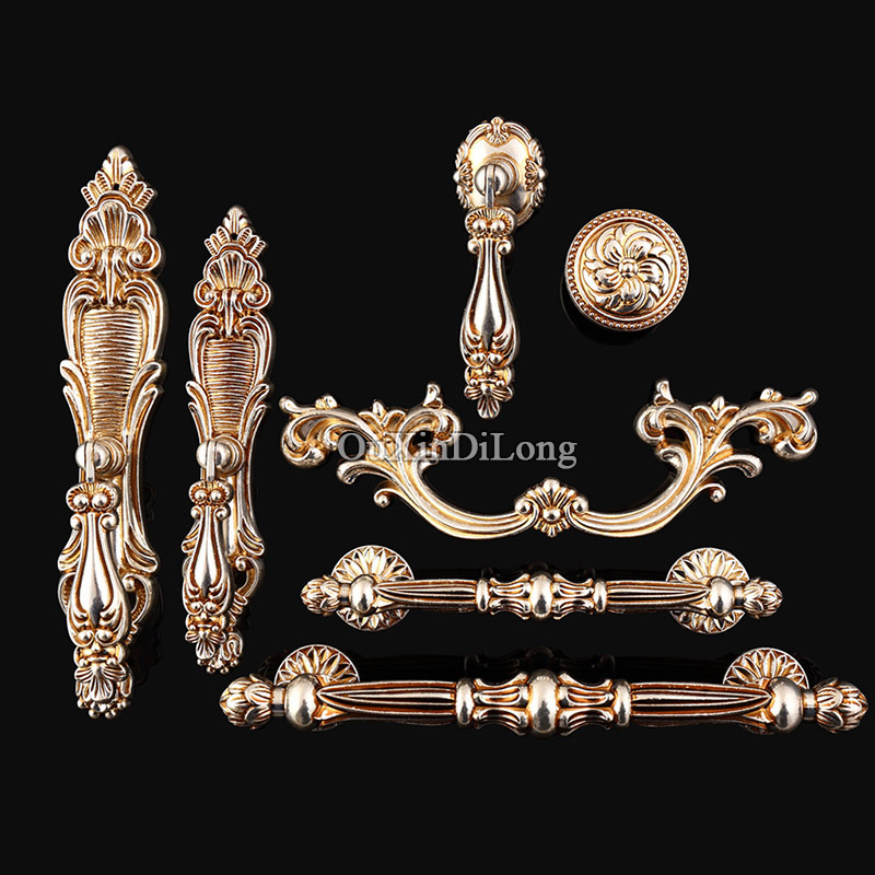 High Quality 10PCS Retro Door Handles European Antique Furniture Handles Cupboard Drawer Pulls Kitchen Cabinet Handles & Knobs hot 10pcs furniture handles european antique zinc alloy drawer cupboard kitchen cabinet door handles