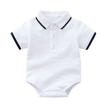 dac980e29 Newborn Romper White Onesies Baby Clothes Cotton Bulk Clothing First Gift  for Boys Solid Pullover Infant