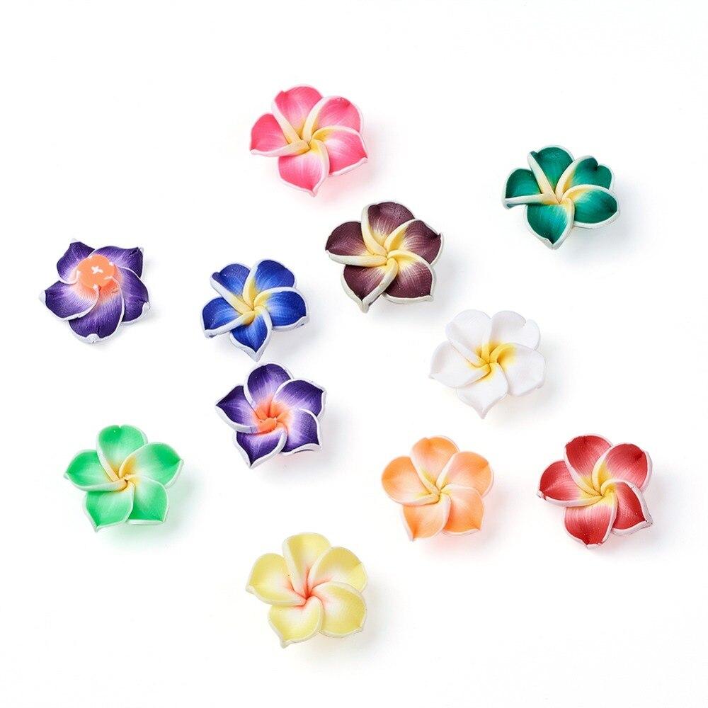 12mm Petal Shape Round Ceramic Loose Beads DIY Flower Bracelet Crafts Fun Gift