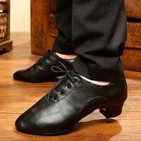 Dance Shoes Men Latin Tango Ballroom Men's Dancing Shoes Salsa Shoes PU Soft Bottom Modern Dance Shoes Professional Comfortable