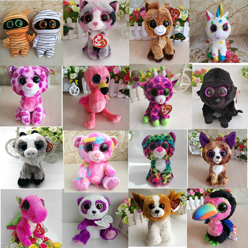 Beanie Boos Elephant and Monkey Plush Doll Toys for Girl Rabbit Fox Cute Animal