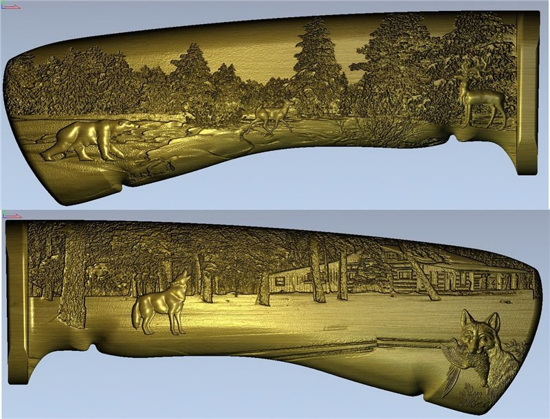 3D Model For 3D Relief Cnc In STL Format Knife_handle-5