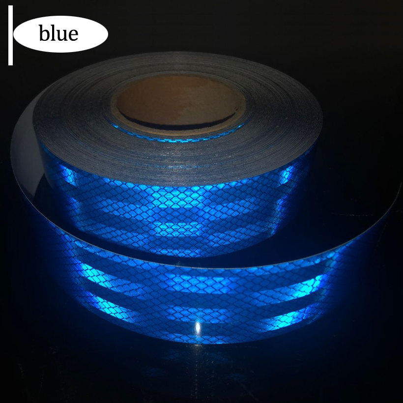 5cmx1m Reflective Strips Car Stickers Car-styling Motorcycle Decoration Automobiles Safety Warning Mark Tape