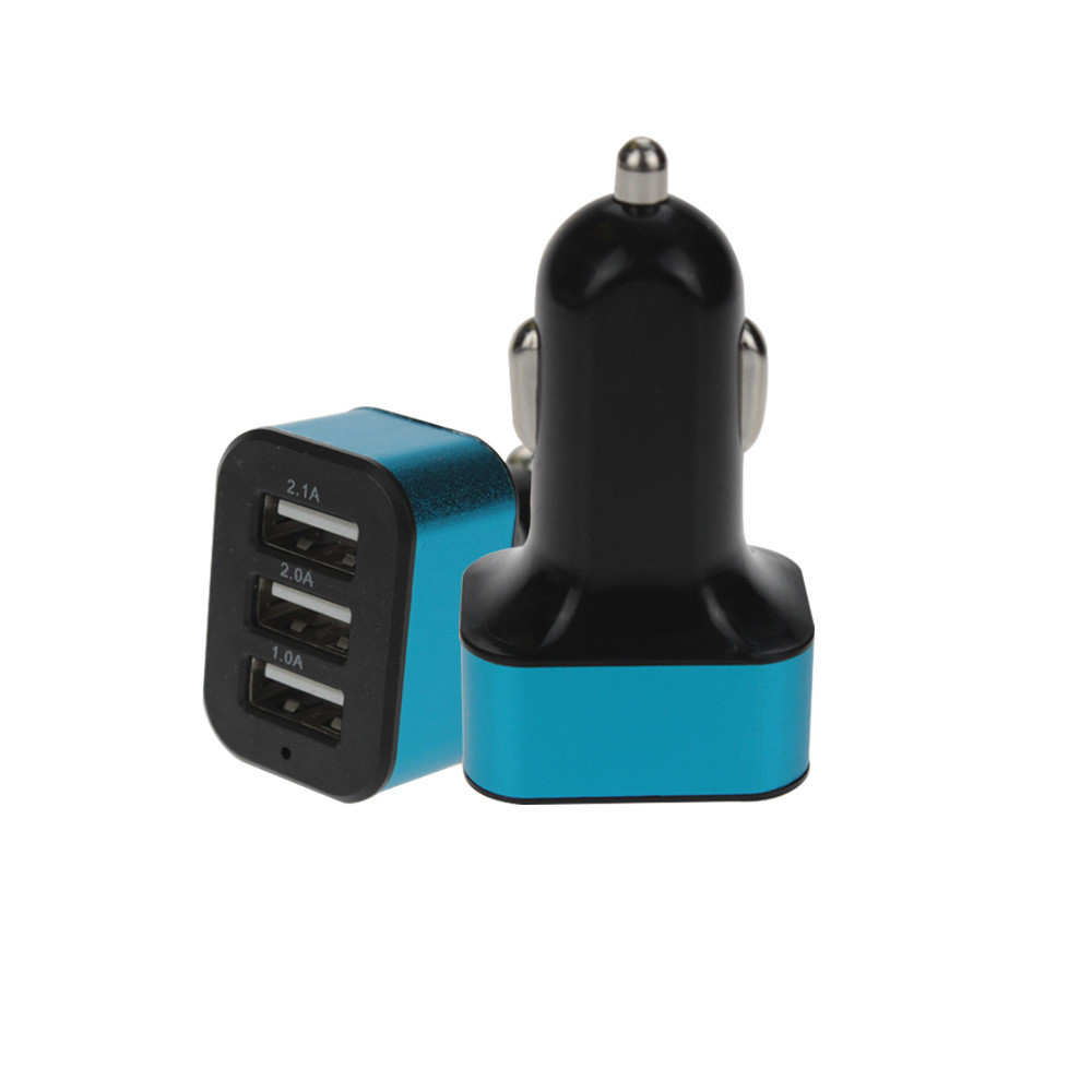 Car Charger  Universal 12V 3Port USB  High Quality Fast Charger Adapter For iPhone/Samsung Cellphone  Dropship  19JAN9