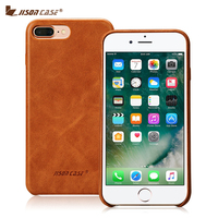 Jisoncase Genuine Leather Phone Cases For IPhone 7 Luxury Back Cover Slim Mobile Phone Cases For