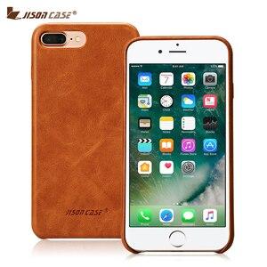Image 2 - Jisoncase אמיתי עור כיסוי עבור iPhone 7 7 בתוספת מקרה יוקרה חזרה כיסוי Slim נייד טלפון מקרה עבור iPhone 8 8 בתוספת אנטי לדפוק