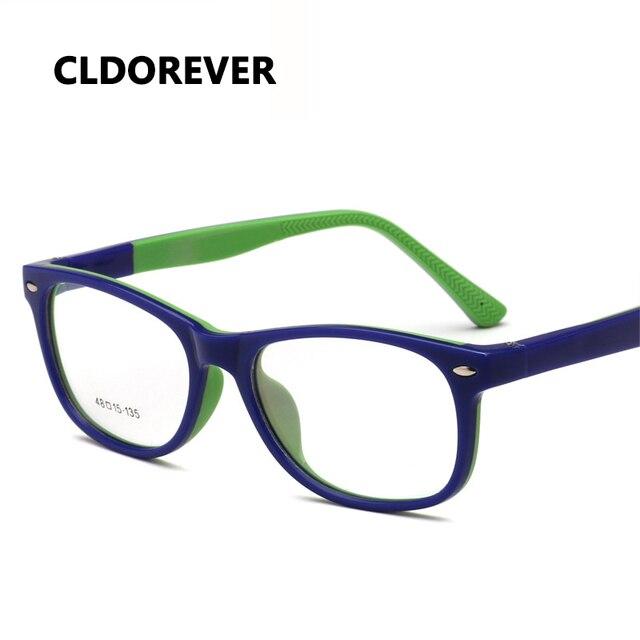 8f30436ee0 TR90 silicona niños anteojos ópticos marco de los vidrios de los niños  adolescentes gafas seguridad Flexible