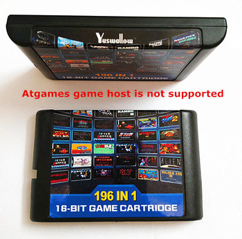 цена на 2018 !!! 196 in 1 multi games batter than 112 in 1 and 126 in 1 For Sega Mega Drive For PAL and NTSC drop shipping
