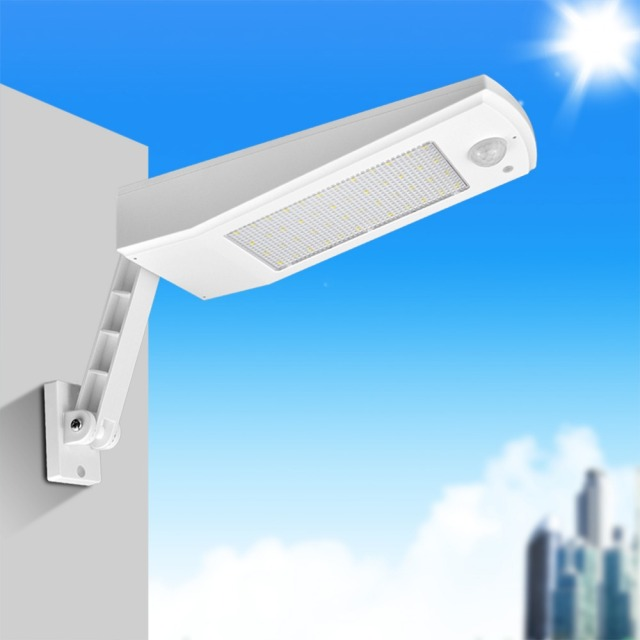 Solar Street Light Pole Motion Sensor Led Outdoor Garden Wall Lamp Waterproof Path Night Lighting
