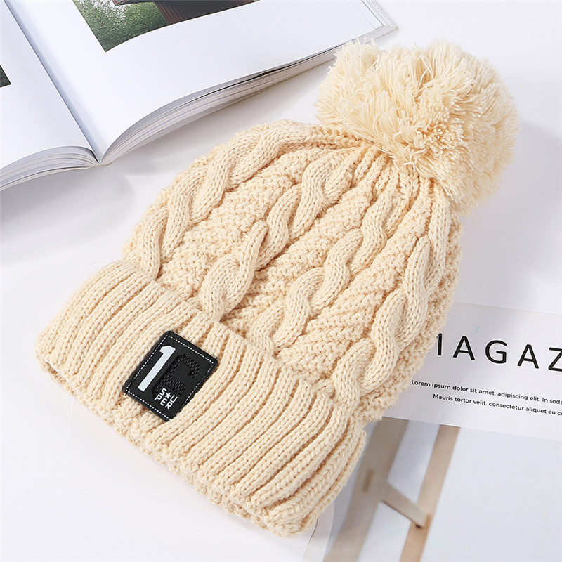 09479321a USPOP New Fashion Women Thick Winter Hats Number Label Velvet ...