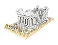 LOZ 9383 City Famous Building Series Architecure Greek Temple Diamond Bricks  Building Block Minifigure Toys Gift
