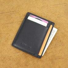 Супер тонкий мягкий кошелек из натуральной кожи мини-кредитный карточный кошелек бумажник для карт Прямая поставка 564-50 мужской кошелек тонкий маленький