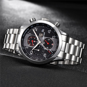 Image 2 - ผู้ชาย BENYAR นาฬิกาแบรนด์หรู Chronograph กันน้ำทหารชายนาฬิกานาฬิกาเหล็กกีฬานาฬิกาข้อมือ relogio masculino 5133