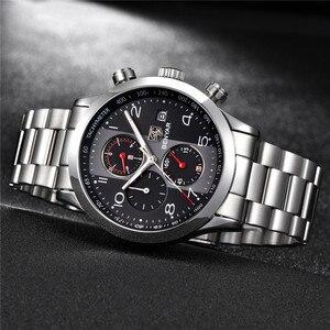 Image 2 - BENYAR reloj para hombre, cronógrafo de lujo, resistente al agua, militar, de pulsera, deportivo, de acero, masculino, 5133