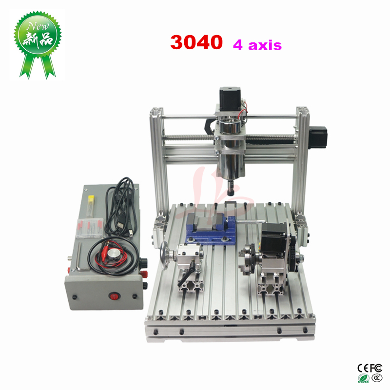 Small cnc milling machine Mini DIY CNC router machine 3040 4axis CNC engraving machine for woodwork