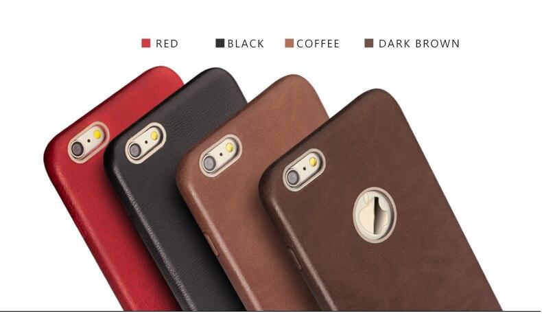 QIALINO Kulit Asli Kasus Telepon untuk iPhone 6 & 6 s Kulit Betis - Aksesori dan suku cadang ponsel - Foto 5
