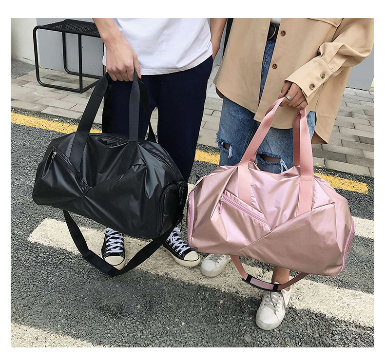 Glossy Yoga Mat Bag Fitness Gym Bags Dry Wet Tas Handbags For Women Men Shoes Travel Training sac De Sport Pink gymtas Duffel